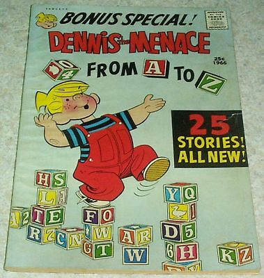 Dennis the Menace Giant #41: From A to Z, FN- (5.5) 1966, 50% off Guide!