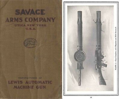 Lewis M1916 Automatic Machine Gun- Savage Arms Co