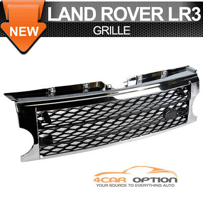 Fits 05-09 Land Rover Discovery 3 Lr3 Chrome Black Front Bumper Grille Grill