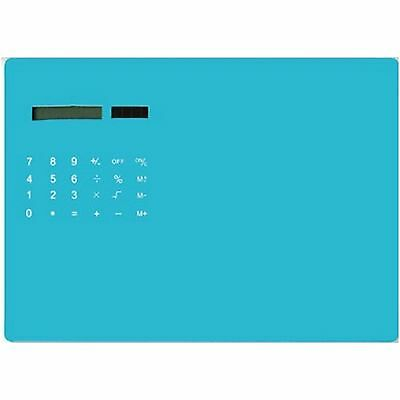 Turquoise Solar Powered 2 in 1 Calculator and Mouse Mat Pad