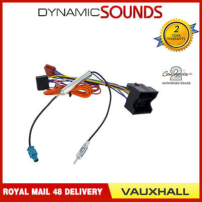 ct20vx04 iso lead head unit harness adaptor wiring for vauxhall ct20vx04 stereo cd radio wiring harness aerial adaptor for vauxhall antara 2007