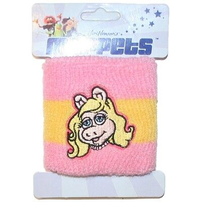 Muppets Miss Piggy Cartoon Pink Sweatband Wristband