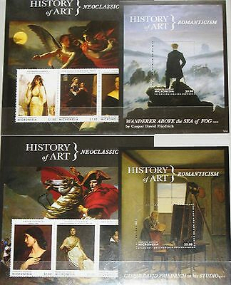 MICRONESIA 2013 History of Art Kunstgeschichte Epochen Paintings Handicrafts MNH