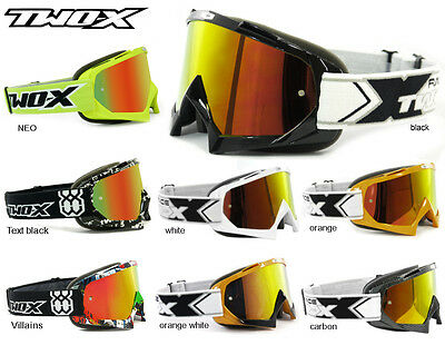 TWO-X Race Iridium Brille - Downhill Freeride MTB Motocross Enduro Quad MX