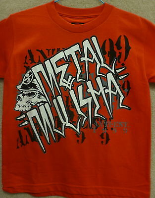 """Metal Mulisha Boy/'s T-shirt /"""" Frequency /"""" Color Red"""