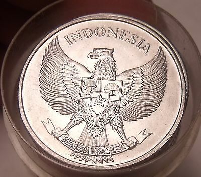 Roll (20 Coins) Large Unc Indonesia 1955 25 Sen~Spread Eagle~Free Shipping