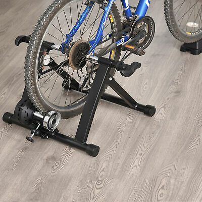 Indoor Magnetic Bike Bicycle Trainer Stand 5 Level Resistance Folding Black