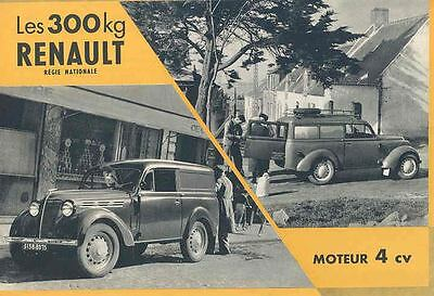 1954 Renault 300 Kg Van Station Wagon Brochure French wh3402-49THZF