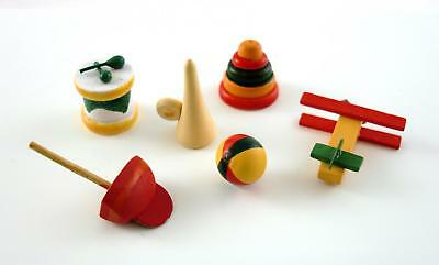 Dolls House Miniature 1:12 Scale Nursery Shop Accessory Set of 6 Wooden Toys