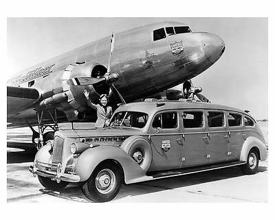 1940 Packard Super 8 United Airlines Airplane Photo Poster zc5365-F3YJB2