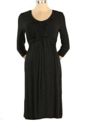 New Japanese Weekend Maternity Nursing Black Basket Weave, Desk to Dinner Dress