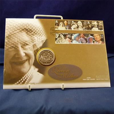 Superb The Queen Mother Honeymoon Departure 1Crown Coin 1st Day Cover FL1697
