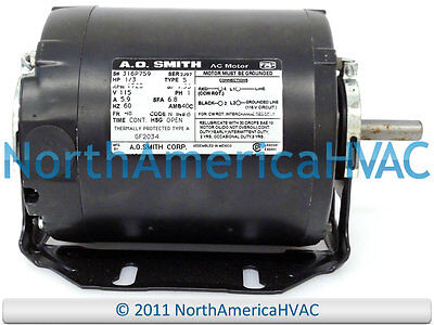 A.O.Smith Blower MOTOR 1/3 HP 115 Volt 1725 RPM GF2034 316P759