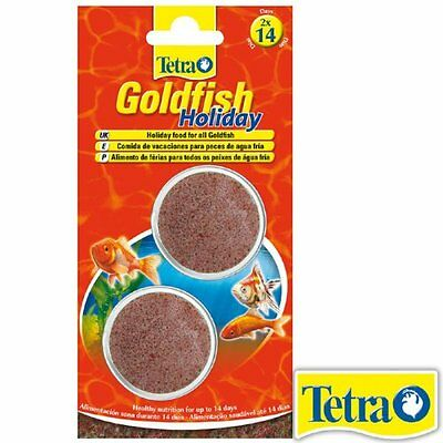 Tetrafin Tetra Goldfish Holiday Fish Food 2 X 12G Vacation