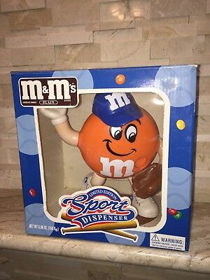 M&ms Baseball Sport Candy Dispenser Limited Edition New Free Us Shipping