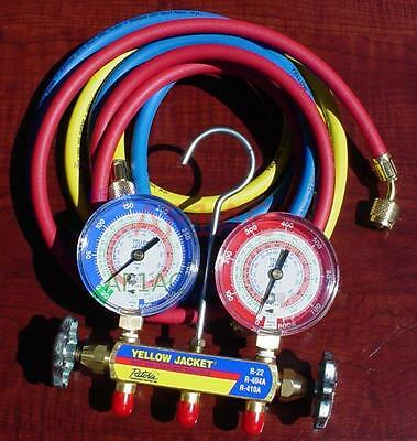 Yellow Jacket Charging Manifold and Hoses R410A/404A/22