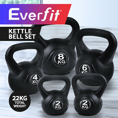 Everfit 22KG Kettle Bell Kit Weight Kettlebell Fitness Exercise Home Gym