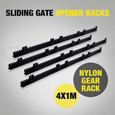Sliding Gate Opener Rack Automatic Remote Kit Heavy Duty Electric Security 4x1M
