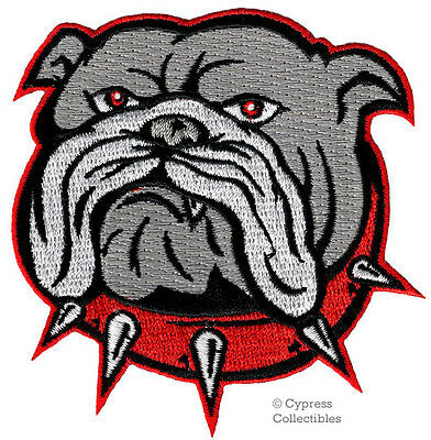 ENGLISH BULLDOG iron-on PATCH embroidered APPLIQUE DOG CANINE PET SOUVENIR CRAFT