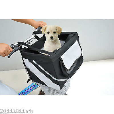 Bicycle Pet Carrier Dog Cat Kennel Portable Tote Crate Basket Saddlebag Sportly