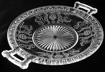 McKee Bros. - Scroll with Flowers - Handle Tray