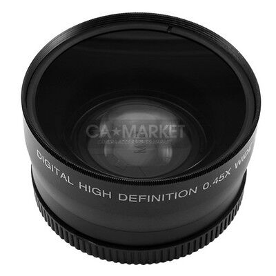 62mm 0.45x Wide Angle Lens & Macro Conversion Lens 0.45x 62