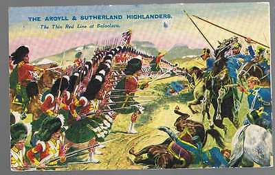 """The ARGYLL & SUTHERLAND Highlanders - Old MILITARY Card from """"The Rover"""""""