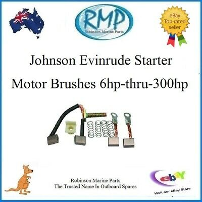 A Brand New Set Of Starter Motor Brushes Suits Evinrude Johnson # R 385952