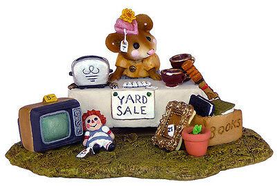 THE YARD SALE by Wee Forest Folk, WFF# M-202, Retired