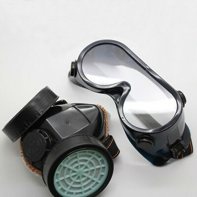 Protective Anti Dust Face Mask Respirator With Filter Cotton & Goggles Set
