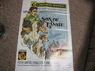 Framable Movie Poster, Son of Lassie, This is original. Minor damage