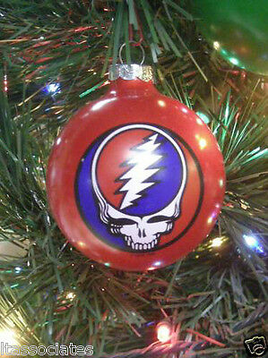 GRATEFUL DEAD STEAL YOUR FACE  LIMITED EDITION ORNAMENT ~~NEW~~ 1996 red