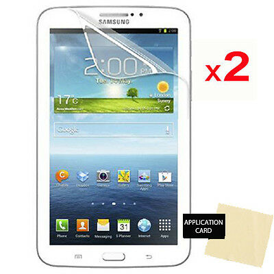 2 pack of CLEAR Screen Protector Guards for Samsung Galaxy Tab 3 7.0 P3200 T210