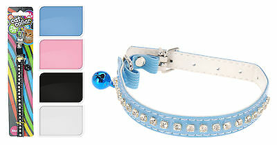 Cat Collar with Bell Diamante Cat Collar with Bell Choice of 4 Colour