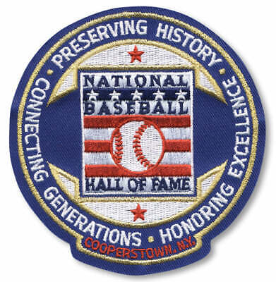 National Baseball Hall Of Fame Induction Cooperstown Round Logo Jersey Patch