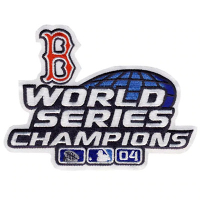2004 Boston Red Sox MLB World Series Championship Jersey Patch Alternate Version