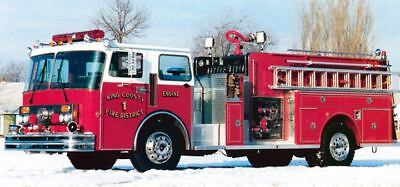 1980's Darley King County Fire Truck Factory Photo c186-3ULI1T