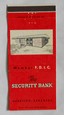 The Security Bank Harrison AR Boone County Matchcover 071413
