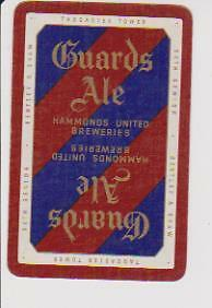 *guards Ale* X 1 Only (Sgl) Vintage Playing/.swapcard ..- Hammonds United Brewer
