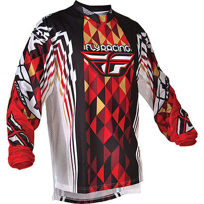 Fly Racing Kinetic Jersey Black/Red Adult size Medium