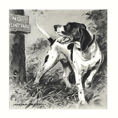 Pointer - Morgan Dennis Dog Print - MATTED