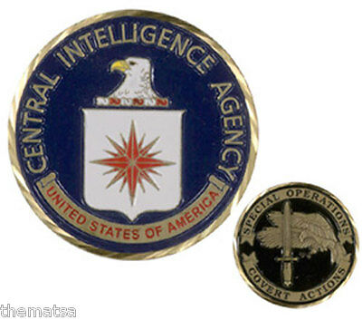 """Central Intelligence Agency Special Operations Cia Covert 1.75"""" Challenge Coin"""
