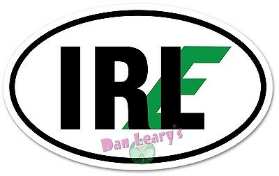 IRL-E Irish-Euro Oval Decal Sticker Irish Auto