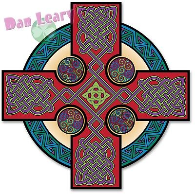 Celtic Cross-Classic Decal Sticker Irish Ireland Auto