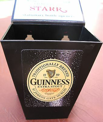Guinness Beer Playing Card and Bottle Cap Catcher  Bar  Pub  Man Cave  NIB Black