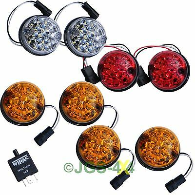 Land Rover Defender WIPAC LED Coloured Lamp Upgrade Kit 73mm Lens - DA1192