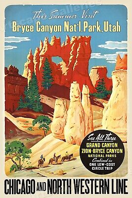 Bryce Canyon National Park Utah Travel Tourism 16X20 Vintage Poster FREE S//H