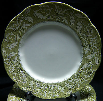 "Vintage J. & G. Meakin RENAISSANCE GREEN 9.75"" Dinner Plate Several Available."