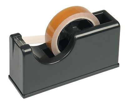 "OFFICE DESKTOP 25mm 1"" WEIGHTED BENCH TAPE DISPENSER PACKING DESK SELLOTAPE ROLL"