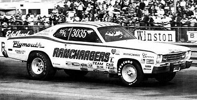 1973 1974 Plymouth Duster Ramchargers Drag Race Photo NHRA c3780-ZRKZUA
